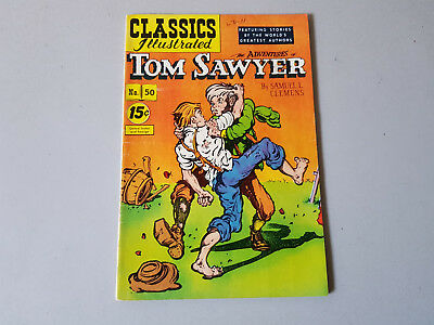 CLASSICS ILLUSTRATED No. 50 Adventures of Tom Sawyer - 15c - HRN 132