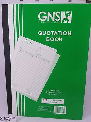 5 x A4 Quote Book Duplicate Carbonless 50LF GNS GN 9600*