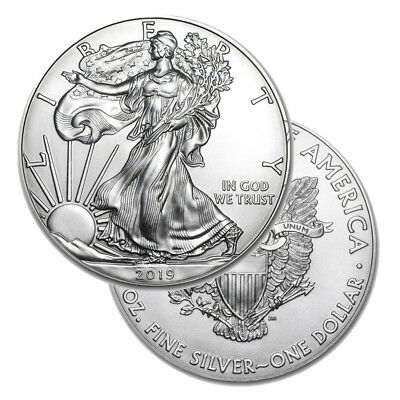 Silver 2019 American Eagle 1 oz. Coin - .999 fine silver American Eagles 1oz