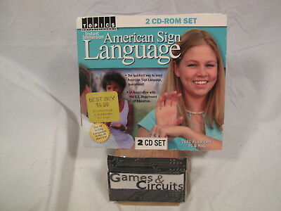 AMERICAN SIGN LANGUAGE Instant Immersion for PC & MAC (Windows & Apple) CD-Rom