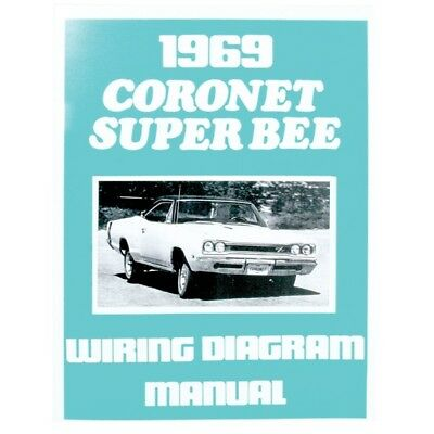 1969 dodge coronet super bee illustrated facts features manual brochure 69 - $10.00 | picclick 70 super bee wiring diagram #5