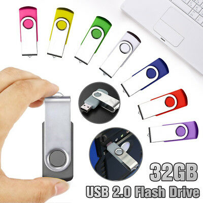 1G 2GB 32G 64GB 256GB Flash Memory USB Stick Bulk Pen Drive U Disk Swivel Lot AU