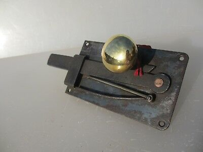 Georgian Wrought Iron Door Lock Latch Victorian Antique Brass Knobs Handles Old