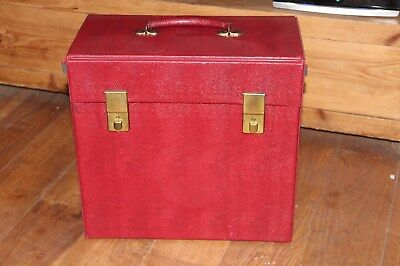 """Vintage Red Record Box Case for Vinyl Albums and 12"""" Singles or Lp;s"""