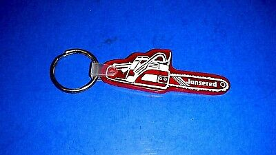 Jonsered Chainsaw Rubber Keychain Ring Fob fm G&G Small Engines Chanute KS - EXC