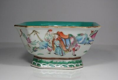 Antique Chinese Famille Rose Square Sectioned Bowl, 19th Century