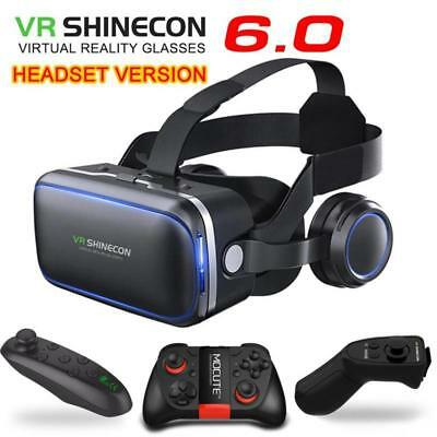 Glasses Reality Virtual 3D With Headphones And Remote Control