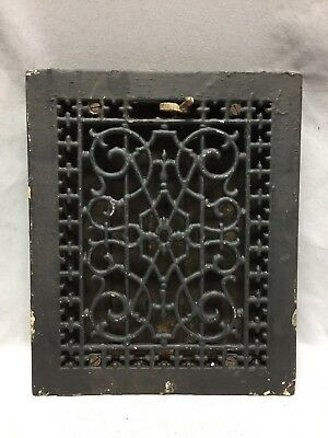 One Antique Cast Iron Decorative Heat Grate Floor Register 8X10 Vintage 95-19C