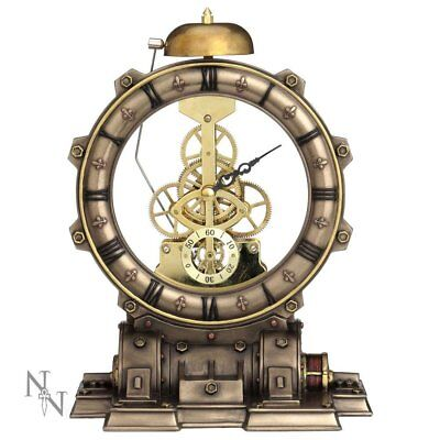 """FANTASTIC STEAMPUNK """"TIME MACHINE"""" MANTEL CLOCK by NEMESIS NOW NEW & BOXED"""