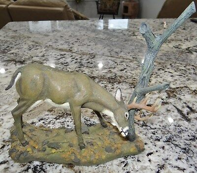 Danbury Mint The Rub Magnificent Whitetail Collection Deer Hunting Animal Figure