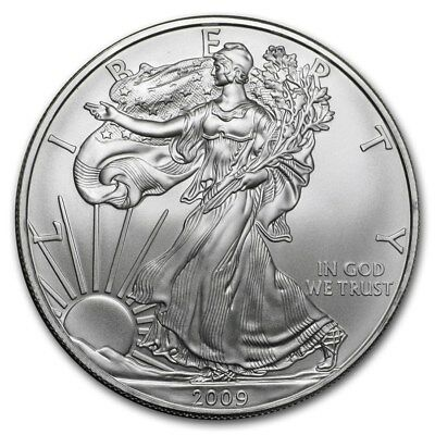 2009 1 oz AMERICAN SILVER EAGLE BRILLIANT UNCIRCULATED ASE