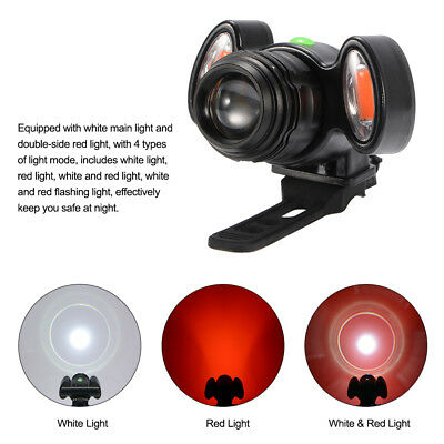 Bike LED Front Light Bicycle Rechargeable Headlight Safety Lamp Zoomable CS601