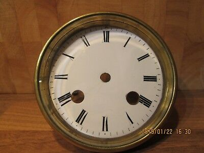 antique french clock dial and back plate for a mantle clock