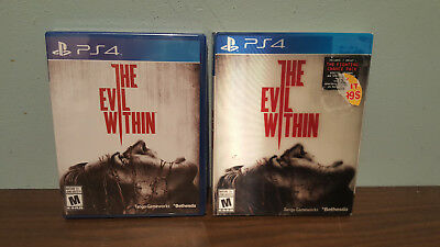 The Evil Within including THE FIGHTING CHANCE PACK - SEALED (PS4) CAN VARIANT