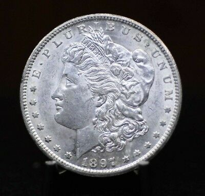 1897-S Choice BU Morgan Silver Dollar [01DUD]