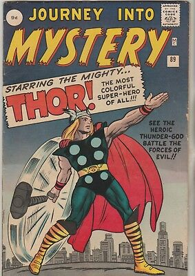 \ Marvel Comics Journey Into Mystery #89 1963 7Th Thor Fine 6.0 1St Print ///