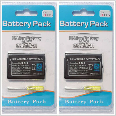 2Pack Rechargeable Battery for Nintendo 3DS, 2DS or Wii U Pro Controller