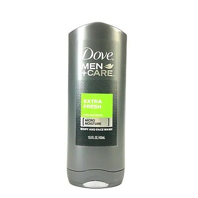 Dove Men+Care Body And Face Wash Extra Fresh Cooling Micro Moisture 13.5 oz