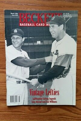 Beckett Baseball Magazine Monthly Price Guide T Williams/ Musial- March 1996