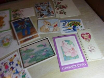 Huge Lot of 57 Assorted Vintage Greeting Cards - All Occasions Holidays Sizes!