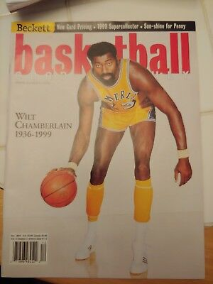 BASKETBALL BECKETT  DECEMBER 1999 #113 WILT CHAMBERLAIN Los Angeles Lakers MINT!
