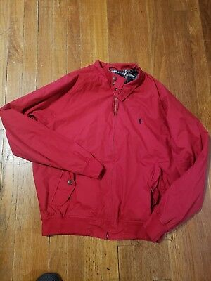 Vintage POLO By Ralph Lauren Mens Red Zip Jacket Size M