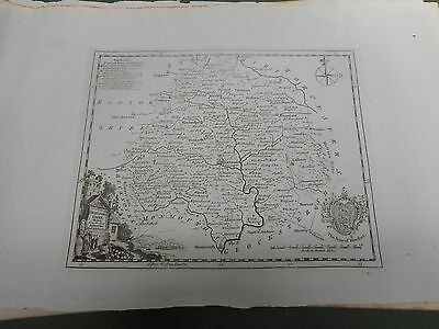 100% Original Herefordshire Map By Kitchin C1786 Vgc/fine Low Uk Postage