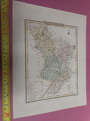 100% Original Derbyshire Map By Roper Cole C1805 Vgc Hand Coloured
