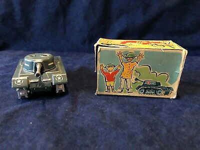 1950's Arnold Sparkling Tin Wind Up Tank with Original Box West Germany