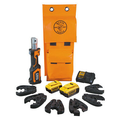 Klein Tools BAT207T144H Battery Operated Cable Cutter And Crimper Kit