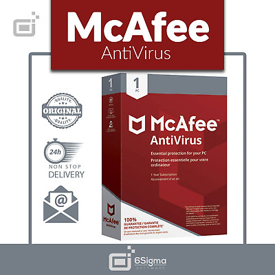 🗽McAfee Anti Virus Plus 2019 Software🗽1Device🗽 1 Year(MAC//Win/Android/iOS)