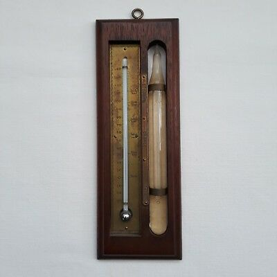 Antique Cottage Thermometer And Barometer By US Novelty Co. New York