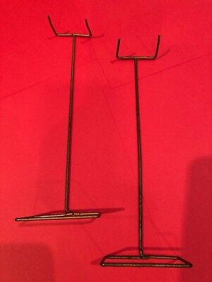 NICE Pair of HTF Vintage 1960's Barbie Doll WIRE STANDS
