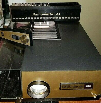 Hanimex super auto 500 slide projector with 1 tray and newer bulb