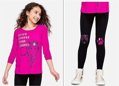 """NWT Justice Girls /""""Magical Vibes/"""" Long Sleeve Swingy Tee /& Matching Leggings!"""