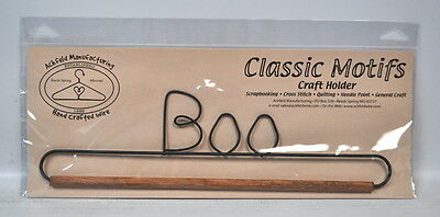 Classic Motifs 12 Inch Boo Craft Holder With Wooden Dowel