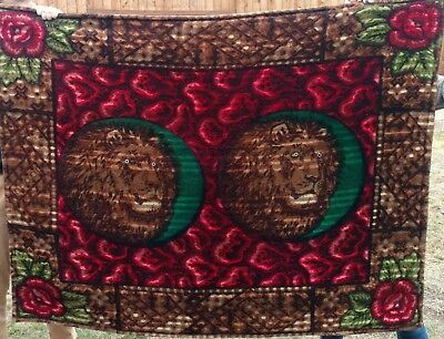 Lions Horse Hair Lap Robe Buggy Carriage Sleigh Blanket
