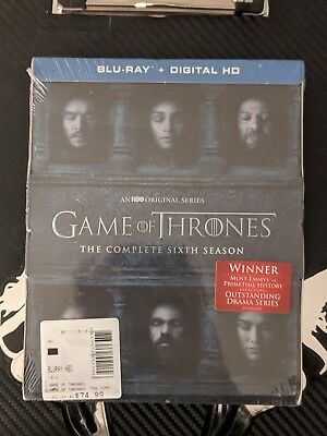 Game of Thrones: The Complete Sixth Season 6 (Blu-ray Disc, 2016, 4-Disc Set NEW