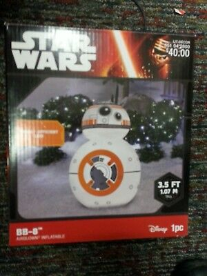 Bb8 3.5 Ft Tall Star Wars Disney Led Airblown Self Inflatable Christmas Decor