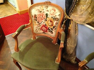 Armchair French Louis XV Rococo Style