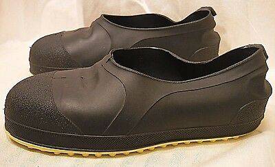 Tingley Mens Small Steel Toe Overshoes Black Rubber Waterproof Shoes Workbrutes