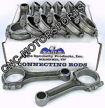 SIR5700SPLW SB Chevy 283 327 Eagle 5140 Forged I Beam Connecting Rods Press Fit