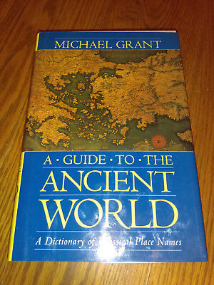 A Guide to the Ancient World by Michael Grant (c1986, 1997, Hardcover) #af