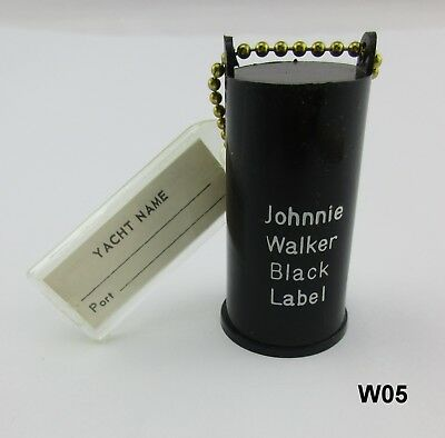 Vintage Johnnie Walker Black label Key Chain (Boat Buoy?) Advertising W05