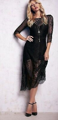810f889cdb FOR LOVE   LEMONS SAN MARCOS BLACK LACE MAXI DRESS  263 size S Sold Out
