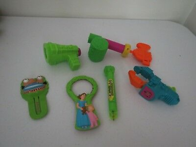 Mixed Lot Of 6 Mcdonalds Happy Meal Toys, Hardees and Nickelodeon