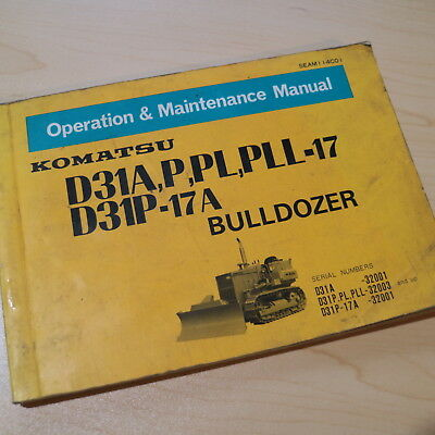 komatsu d87 2 bulldozer operation maintenance manual