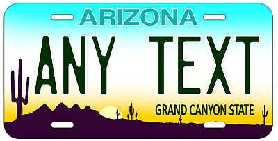 Personalized Custom Arizona State License Plate Any Text Name Novelty Car Tag