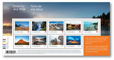 2019 Canada -  From Far and Wide: Souvenir Sheet of 9 stamps MNH