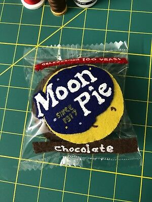Felt Art-Chocolate Moon Pie-Inspired by Work of Lucy Sparrow